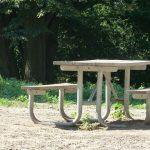 שולחן בטון לגינה